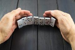 De spaanders van het dominospel Royalty-vrije Stock Afbeeldingen