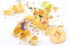 De spaanders van het kleurpotlood Stock Fotografie