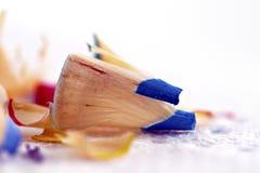 De Spaanders van het potloodkleurpotlood Stock Afbeeldingen