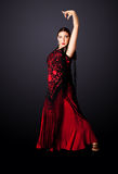De Spaanse danser van het Flamenco Stock Afbeeldingen