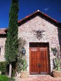 De Spaanse Gestileerde Ingang van de Villa Stock Foto