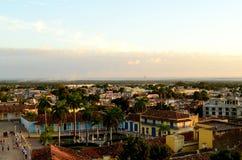 De Spaanse koloniale architectuur Trinidad, Cuba stock afbeeldingen