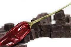 De Spaanse peper van de chocolade royalty-vrije stock foto's