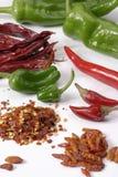 De Spaanse pepers van het paar Stock Foto