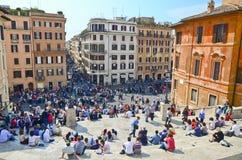 De Spaanse Stappen, die van Piazza worden gezien Stock Afbeelding