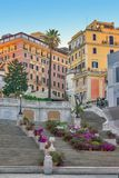 De Spaanse Stappen in Rome, Italië Stock Fotografie