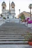 De Spaanse Stappen in Rome, Italië Stock Afbeelding