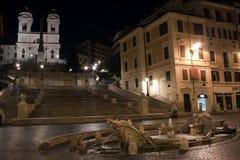 De Spaanse stappen in Rome, Italië Stock Foto