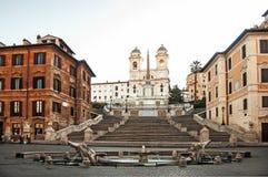 De Spaanse Stappen van Italië Rome Stock Afbeeldingen