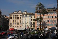 De Spaanse Stappen zijn een reeks stappen in Rome, Italië Stock Fotografie