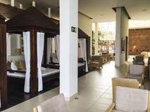 De Spaanse stijl van de hotelhal Royalty-vrije Stock Afbeeldingen