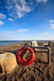 De Spaarder van het leven op het Strand royalty-vrije stock foto