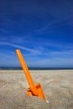 De spade van het strand stock foto's
