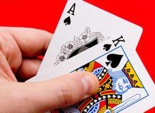 De spades van de holding Royalty-vrije Stock Foto