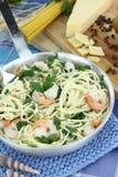 De spaghetti van garnalen Royalty-vrije Stock Afbeelding