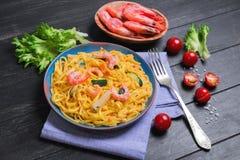 De spaghetti van Tagliolinideegwaren Royalty-vrije Stock Afbeelding