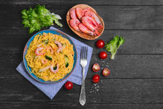 De spaghetti van Tagliolinideegwaren Royalty-vrije Stock Foto's