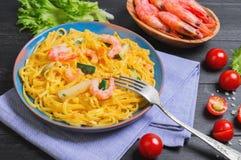 De spaghetti van Tagliolinideegwaren Royalty-vrije Stock Afbeeldingen