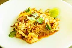 De spaghetti van Tom yum koong Royalty-vrije Stock Foto's