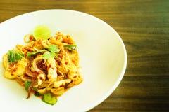 De spaghetti van Tom yum koong Stock Afbeelding