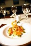 De spaghetti van zeevruchten Royalty-vrije Stock Foto