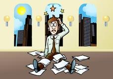 De spanning van de zakenman vector illustratie