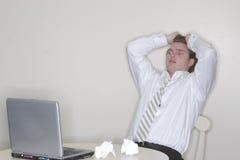 De spanning van de zakenman royalty-vrije stock foto's