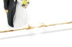 De spanning van het huwelijk Stock Foto's
