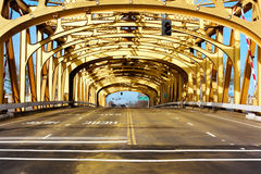 De spanwijdte van de brug Stock Afbeeldingen