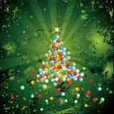 De spar van Kerstmis Stock Foto's