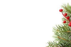 De spar van Kerstmis met decoratie Stock Foto's
