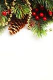 De spar van Kerstmis met decoratie Royalty-vrije Stock Afbeelding