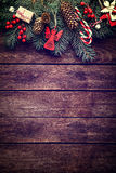 De spar van Kerstmis met decoratie Royalty-vrije Stock Foto's