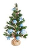 De spar van Kerstmis met speelgoed wordt verfraaid dat Stock Foto's