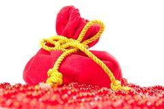 De sparappel van Kerstmisballen Stock Foto's