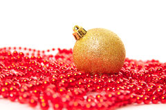 De sparappel van Kerstmisballen Royalty-vrije Stock Afbeeldingen