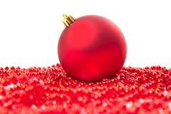 De sparappel van Kerstmisballen Royalty-vrije Stock Foto's