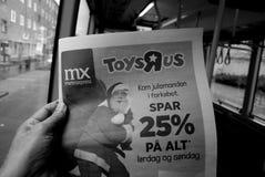 DE SPARENDE PRIJS VAN TOYSRUP 25% VOOR CHRISTMASN-HET WINKELEN Stock Foto's