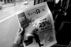 DE SPARENDE PRIJS VAN TOYSRUP 25% VOOR CHRISTMASN-HET WINKELEN Stock Foto