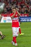 17/07/15 de Spartak 2-2 Ufa Jano Ananidze Imagens de Stock Royalty Free