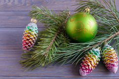 De spartak van Kerstmisballen Stock Afbeeldingen