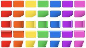 De spatie kleurde etiketten Stock Foto's
