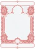 De spatie van het certificaat Royalty-vrije Stock Afbeeldingen