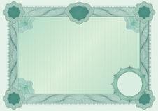 De spatie van het certificaat Royalty-vrije Stock Foto's