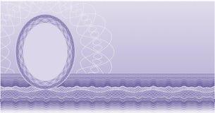 De spatie van het certificaat royalty-vrije illustratie