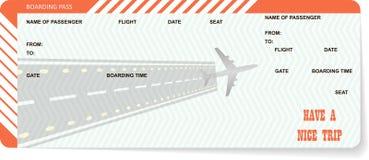 De spatie van het vliegtuigkaartje Oranje instapkaart royalty-vrije illustratie