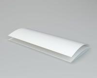 De spatie vouwde witte brochure het 3d teruggeven op grijze achtergrond Stock Foto's