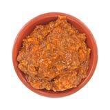 De specerij van de hotdogspaanse peper stock foto