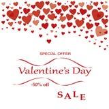 De speciale aanbieding van de de dagverkoop van Valentine ` s vector illustratie