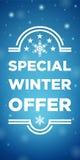 De speciale aanbieding van de de winterverkoop Royalty-vrije Stock Fotografie